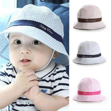 PEAP78W 6-24Months Fashion Hot Toddler Baby Girl Boys Hat Infant Sun Cap Beach Bucket Hats Cute  PY12