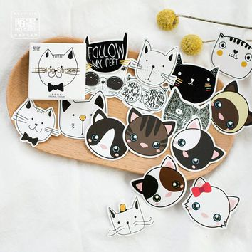 45pcs/pack Animal Head Portrait Touch Your Head  Decorative Stickers Adhesive Stickers DIY Decoration Diary Stickers Box Package
