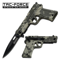 Pistol Style Digital Camo Knife