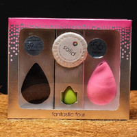 4Pcs Water Droplets Makeup Sponge Flawless Smooth Powder Beauty Cosmetic Puff Foundation Make up Clean Blender Tools