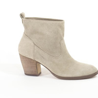 Ankle Boots Ivanka Trump Booties Tiffany Suede Ivory Beige  Shoes Size 8