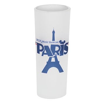 Disney Parks Epcot France Mickey Icon Tower Eiffel Frosted Shot Glass New