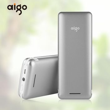 Aigo S6 20000mAh Power bank for xiaomi LED light Portable Charger External Battery Powerbank Fast Charger for Iphone 4 4s 6 6s 7