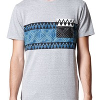 On The Byas Arthur Print Crew T-Shirt - Mens Tee - Gray