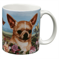 Chihuahua Garden Party Fun Mug