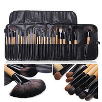 24pcs superior Professional Soft Cosmetic Makeup Brush Set Kit Fashion Gifts CN