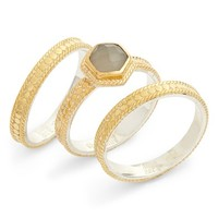 Anna Beck Grey Moonstone 3-Piece Stacking Ring Set | Nordstrom