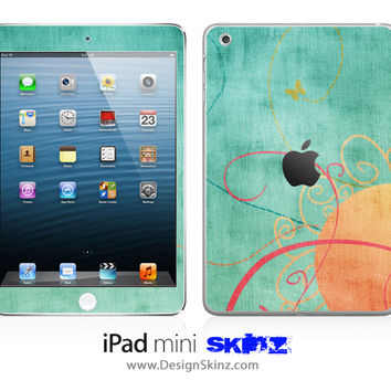 Peachy Green iPad Skin