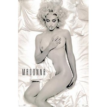 Madonna Poster Nude Smoking In Bed 24inx36in