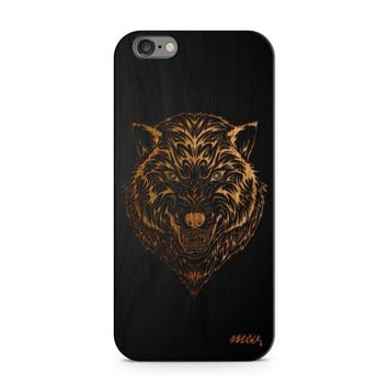 Black Bamboo - Husky Wolf Phone Case
