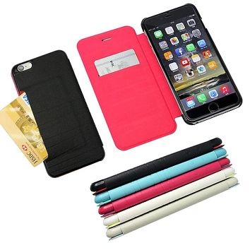MaximalPower Leather Credit Card ID Wallet Case for iPhone 6, 6S, 6 Plus and 6S Plus