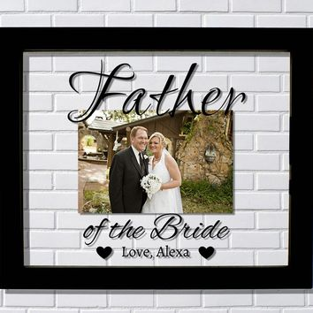 Father of the Bride Floating Picture Frame - Mother of the Bride Wedding Dad Mom Custom Personalized