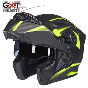 Quality Flip up Motorcycle helmet Double lens helmet GXT 902 model motorbike helmet for adults four season full face casco