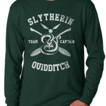 Slytherin Crest #2 One Color on Longsleeve MEN tee