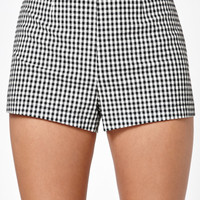 Kendall and Kylie Gingham Print High Rise Shorts at PacSun.com