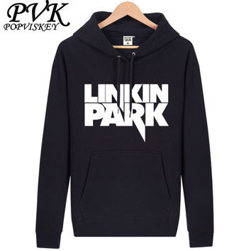 POPVISKEY Brand Hoodies Men's Casual Sweatshirt Male Linkin Park Hoodies Warm Cotton Blend Hoody Free Shipping