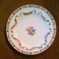 Minton China Floral Swag Rose Pattern A8407 Salad Plate 1912-1950