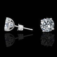 1.5ct Simulated Diamond- Diamond Veneer 14k Stud Earrings 635e1.5