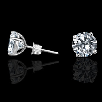 1ct Simulated Diamond-diamond Veneer Stud Earrings 635e100