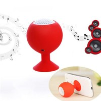 1 Set Multifunction Portable Speaker Car Suction Speakers Phone Holder with B Charging Cable Audio Cable