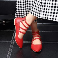 Sale Big Size 34-48 2017 New Bottom Women Ballerina For Ballet Shoes Flats Pointed Toe  Spring Autumn shoes  T750