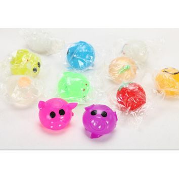 1PC Anti Stress Decompression Splat Ball Vent Toy Venting Ball Sticky Smash Water Ball Anti stress Goods Various Types Pig Toys