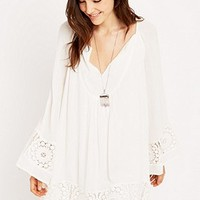 Ecote Crochet Bell Sleeve Dress - Urban Outfitters