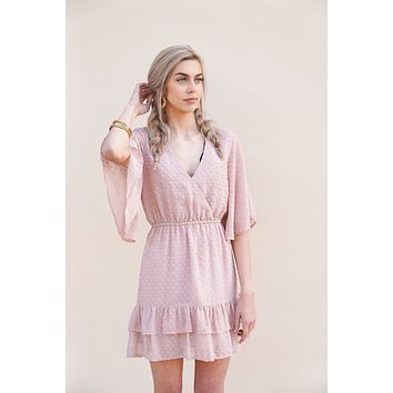 Mauve Polka Dot Dress - Jack by BB Dakota