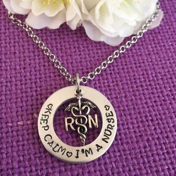Nurse Necklace - Nurse Gift - Nurse Jewelry - Nurse Gift - Personalized Nurse Jewelry - Necklace