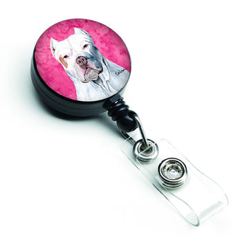Pit Bull Retractable Badge Reel or ID Holder with Clip