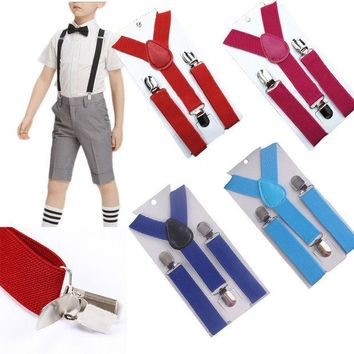 CREYONJ Fashion Children Best Selling Suspenders Baby&kids Suspender Clip-on Adjustable Elastic Y-back Suspender Braces Party  GHH0001