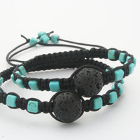 Lava and Turquoise Bracelet