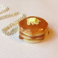 buttery pancake necklace