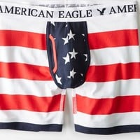 AEO Men's Stars & Stripes Athletic Trunk (Red)