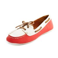 PU Color Block Boat Shoe: Charlotte Russe