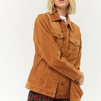 Corduroy Button-Front Jacket