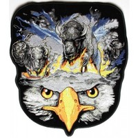 Buffalos and Eagle Large Back Patch