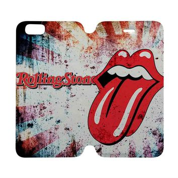 THE ROLLING STONES Wallet Case for iPhone 4/4S 5/5S/SE 5C 6/6S Plus Samsung Galaxy S4 S5 S6 Edge Note 3 4 5