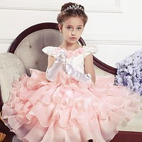 Girl Wedding Dress Children Party Evening Dresses Bridesmaid Girl Cocktail Party Formal Ball Gown Dresses