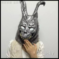 Free shipping Halloween Party Cosplay Donnie Darko Rabbit Mask Scary Animal Full Head Horror Mask Zombie Devil Skull Mask Toys