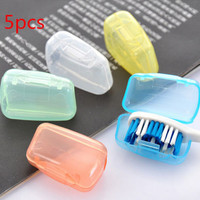 5PCS Applied Camping Toothbrush Head Holder Box Protect Brush Cap Case Cover