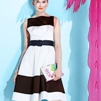 boatneck fit and flare dress - kate spade new york