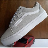 Vans Old School Grey Classic Leisure Plate shoes B-A-HYSM