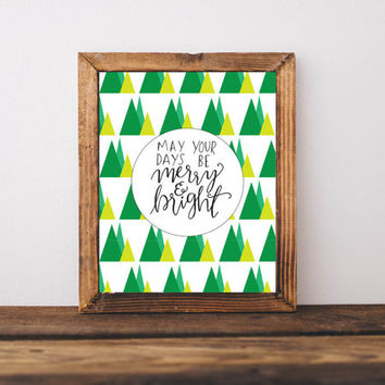 Christmas wall art prints, christmas wall decor, christmas gift ideas, christmas hand lettering, gift ideas