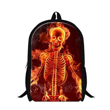 Cool Backpack school cool book bags for teens red skull dancing boy backpacks for school popular schoolbag children day pack school bags for girls AT_52_3