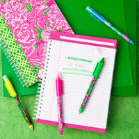 Lilly Pulitzer Pen with Highlighter Set - See Jane Work