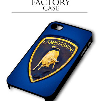 Blue lamborghini iPhone for 4 5 5c 6 Plus Case, Samsung Galaxy for S3 S4 S5 Note 3 4 Case, iPod for 4 5 Case