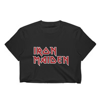 The Iron Maiden Band Tee Crop Top