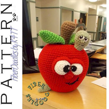 INSTANT DOWNLOAD : Adam the Apple Crochet Pattern