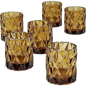 set of 6 betty tea light candle holders